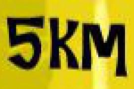 5 Km de marche