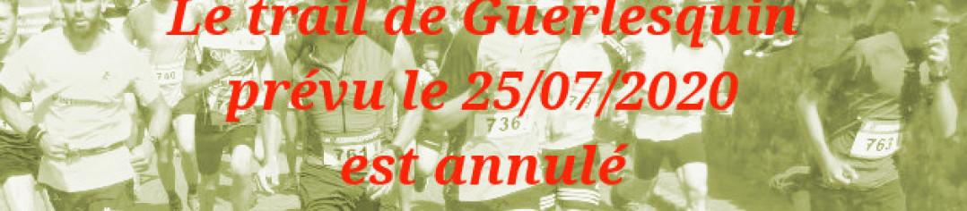 Trail de Guerlesquin 2020 est annulé
