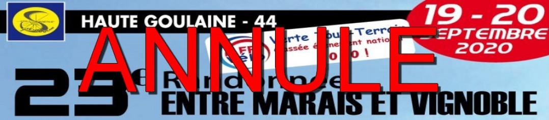 """23ème RANDONNÉE """"Entre marais et vignoble"""" HAUTE-GOULAINE 2020 - EDITION ANNULÉE"""